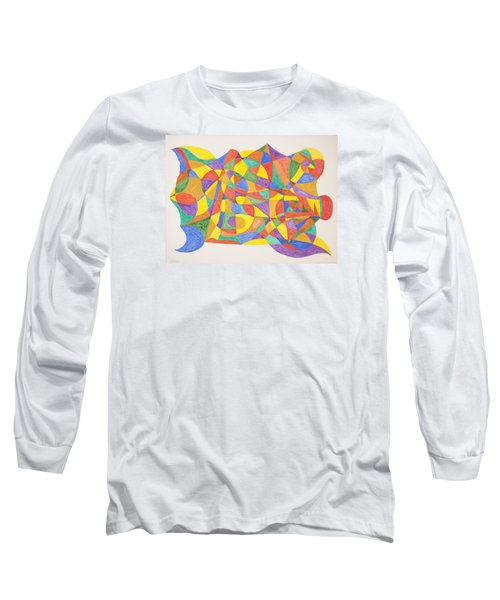 Long Sleeve T-Shirt featuring the painting Space Craft by Stormm Bradshaw