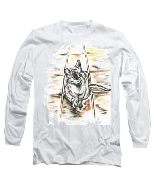Spanish Cat Waiting Long Sleeve T-Shirt
