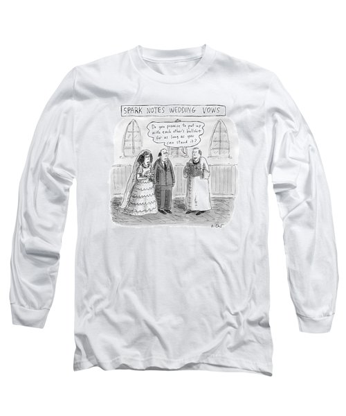 Spark Notes Marriage Vows -- A Minister Says Long Sleeve T-Shirt