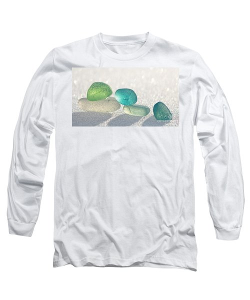 Sparkling Sea Glass Friends Long Sleeve T-Shirt by Barbara McMahon