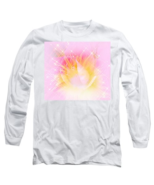 Long Sleeve T-Shirt featuring the photograph Sparkling Starlight Burst Abstract by Judy Palkimas