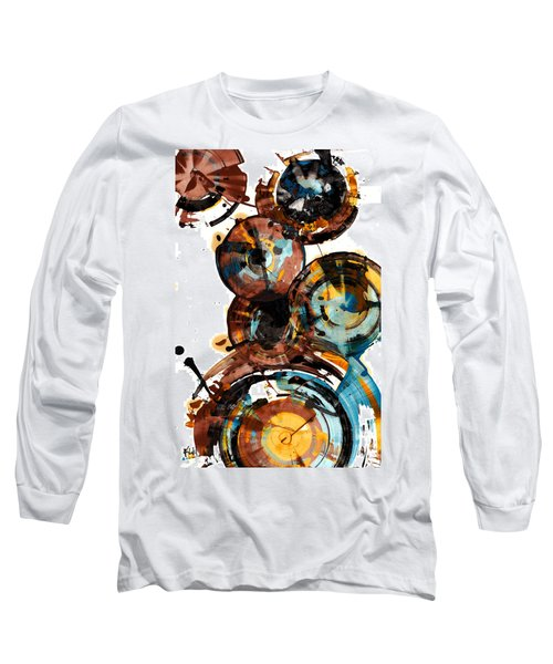Long Sleeve T-Shirt featuring the painting Spherical Happiness Series - 993.042212 by Kris Haas