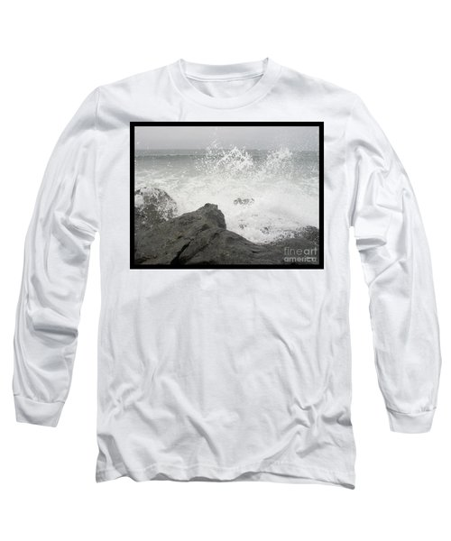 Splash And Gray Long Sleeve T-Shirt by Glenn McCarthy Art and Photography