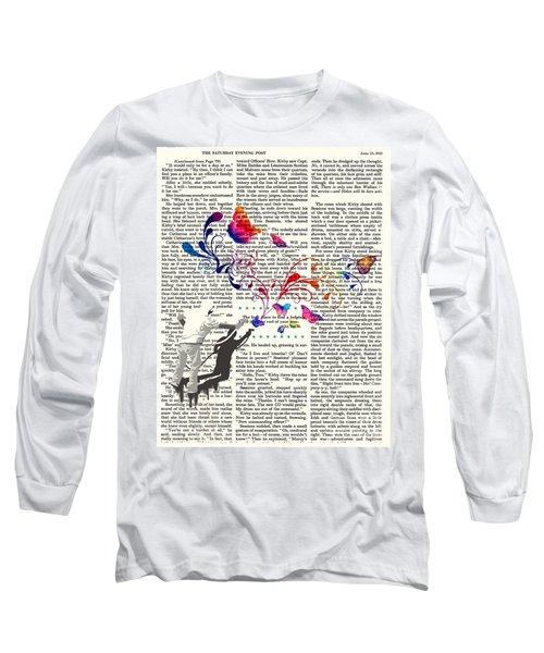 Spray Natura Graffiti Art Print Long Sleeve T-Shirt