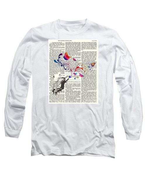 Spray Natura Graffiti Art Print Long Sleeve T-Shirt