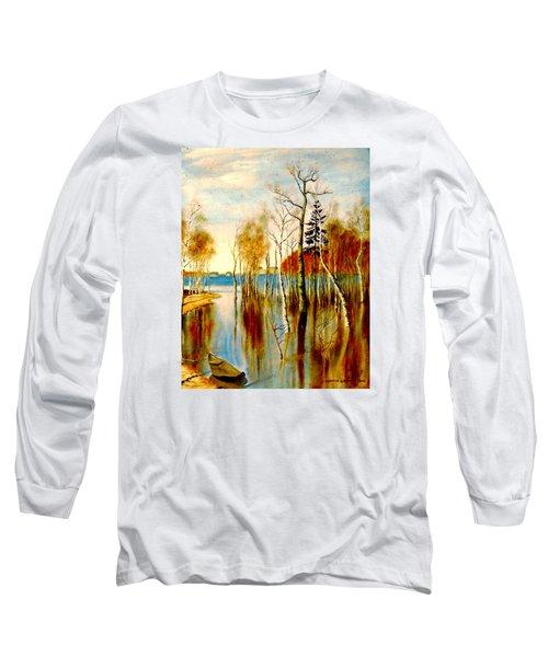 Spring Flood Long Sleeve T-Shirt by Henryk Gorecki