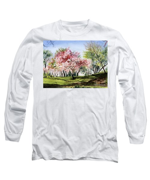 Spring Morning Long Sleeve T-Shirt by Barbara Jewell