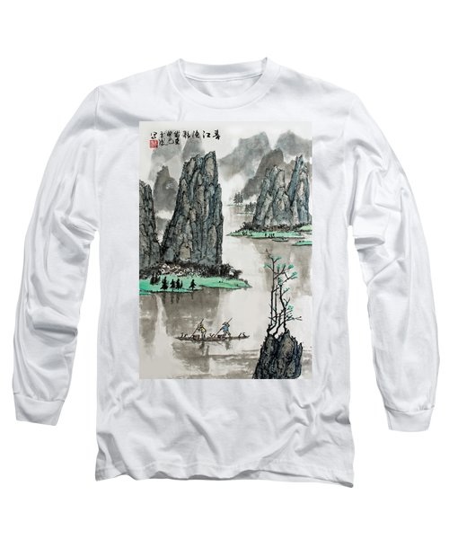 Long Sleeve T-Shirt featuring the photograph Spring River by Yufeng Wang