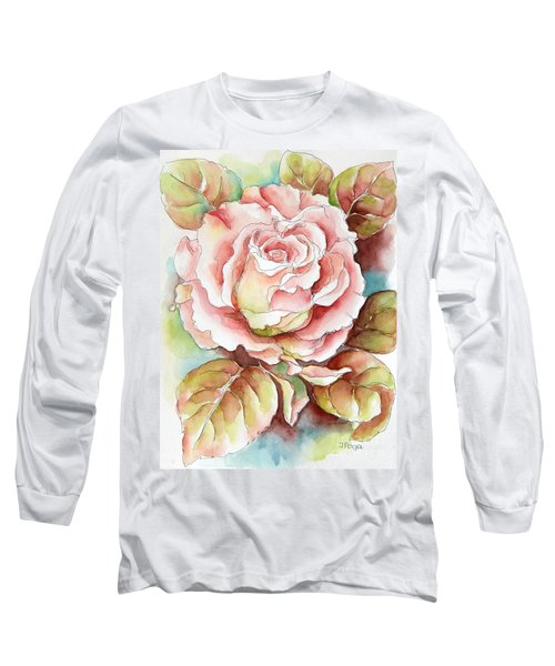 Long Sleeve T-Shirt featuring the painting Spring Rose by Inese Poga