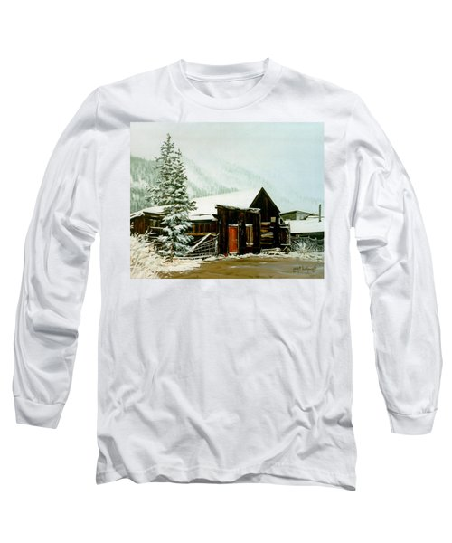 Long Sleeve T-Shirt featuring the painting St Elmo Snow by Craig T Burgwardt