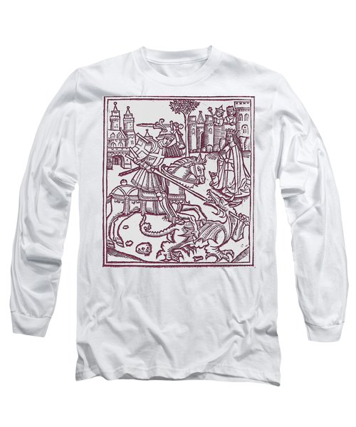 St. George - Woodcut Long Sleeve T-Shirt