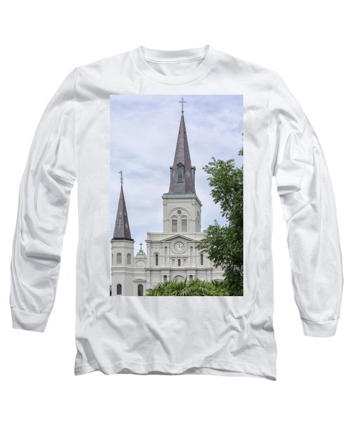 St. Louis Cathedral Through Trees Long Sleeve T-Shirt