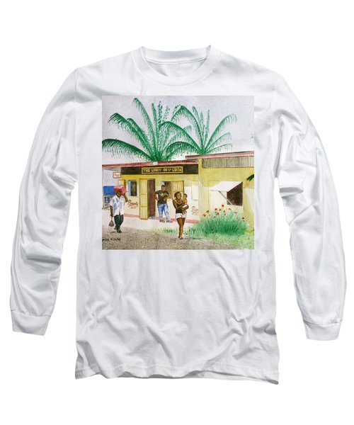 St. Lucia Store Long Sleeve T-Shirt by Frank Hunter
