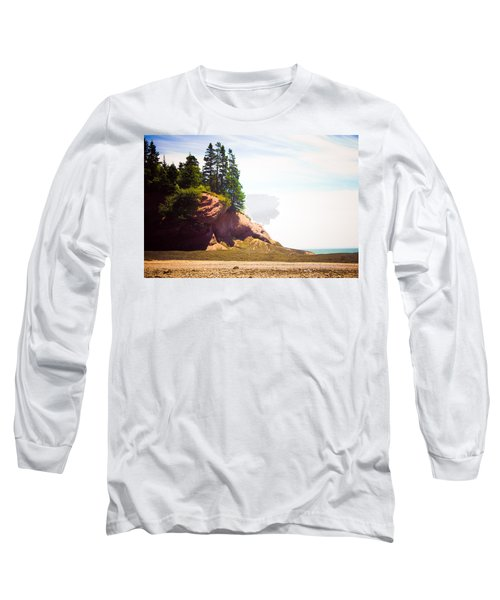 St. Martin's Sea Caves Long Sleeve T-Shirt by Sara Frank