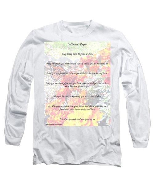 St Theresa's Prayer Long Sleeve T-Shirt