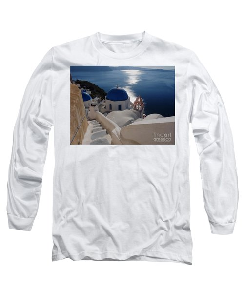 Stairway To The Blue Domed Church Long Sleeve T-Shirt