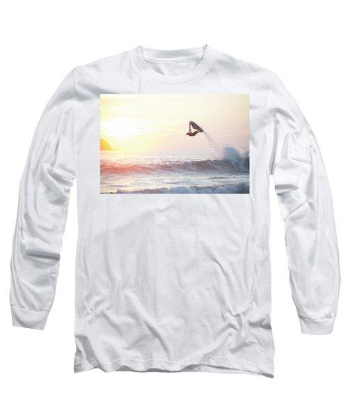 Stand Up Jet Ski Barrel Roll At Sunset Long Sleeve T-Shirt