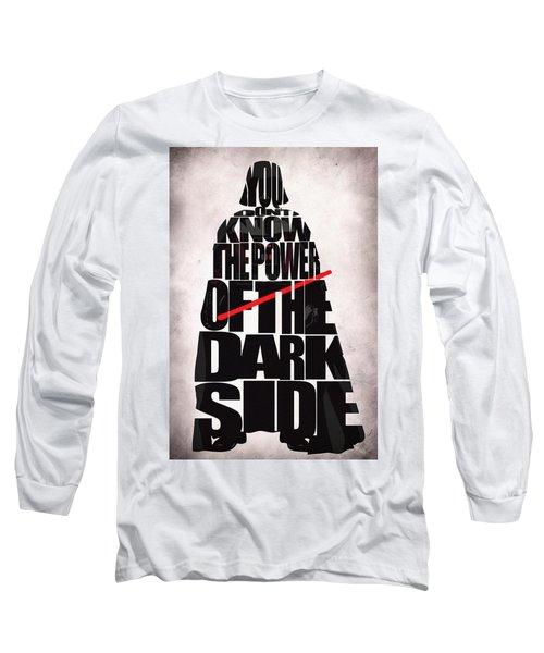 Star Wars Inspired Darth Vader Artwork Long Sleeve T-Shirt by Ayse Deniz