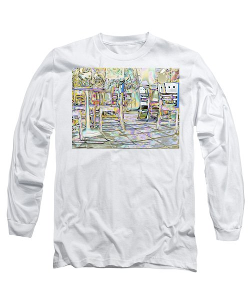 Long Sleeve T-Shirt featuring the digital art Starbucks After Hours by Mark Greenberg