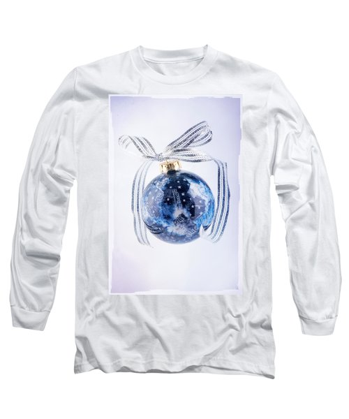 Christmas Ornament With Stars Long Sleeve T-Shirt by Vizual Studio