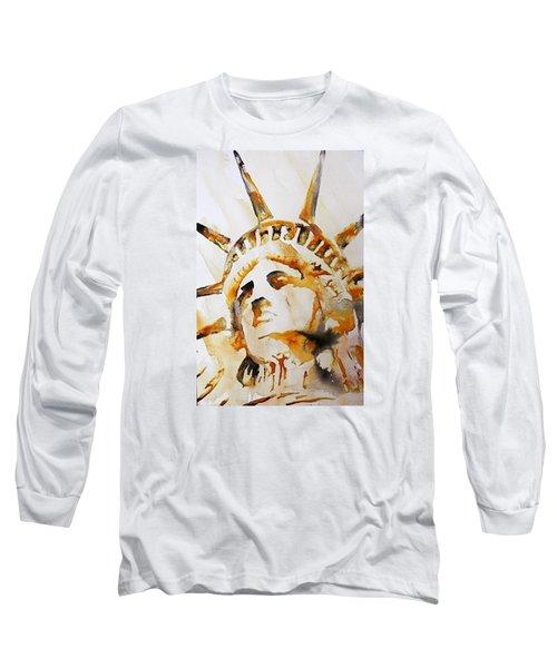 Statue Of Liberty Closeup Long Sleeve T-Shirt