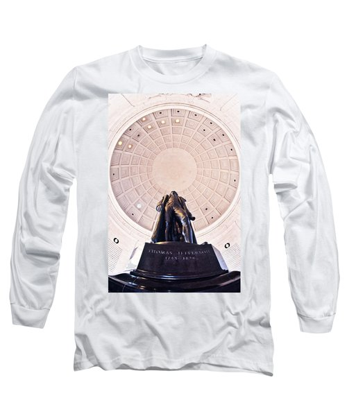 Statue Of Thomas Jefferson Long Sleeve T-Shirt by Panoramic Images
