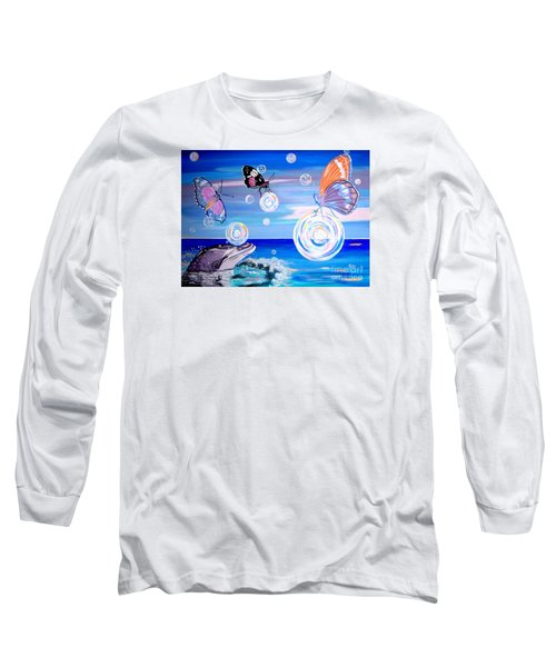 Stay And Play Long Sleeve T-Shirt by Phyllis Kaltenbach