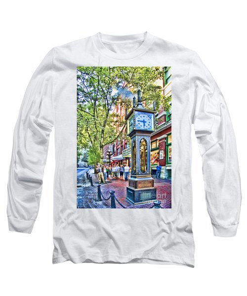 Steam Clock In Vancouver Gastown Long Sleeve T-Shirt