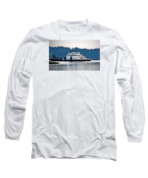 Steilacoom Ferry At Dusk Long Sleeve T-Shirt by Chris Anderson