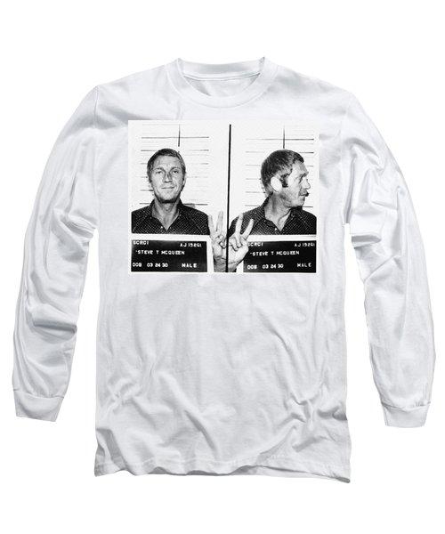 Steve Mcqueen Mugshot Long Sleeve T-Shirt