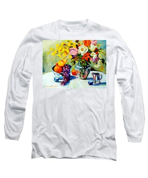Still Life Creamer Long Sleeve T-Shirt by Alexandra Maria Ethlyn Cheshire