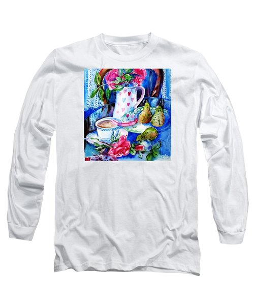 Still Life With Roses  Long Sleeve T-Shirt by Trudi Doyle