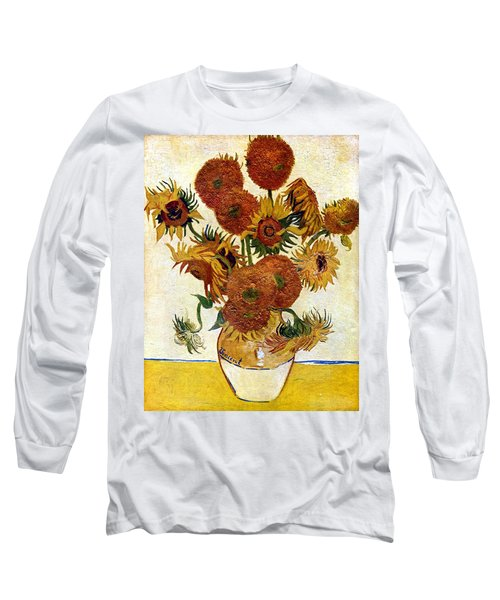 Still Life With Sunflowers Long Sleeve T-Shirt