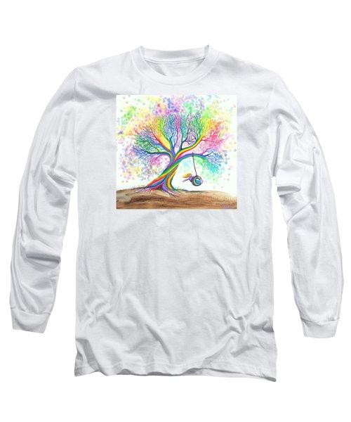 Still More Rainbow Tree Dreams Long Sleeve T-Shirt by Nick Gustafson