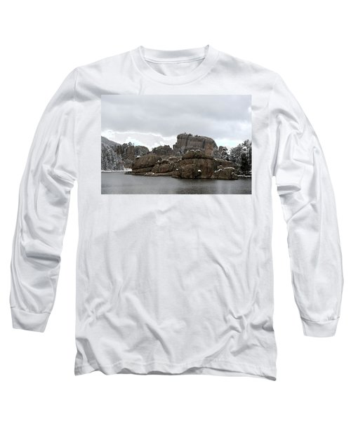 Sylvan Lake In October Long Sleeve T-Shirt by Clarice  Lakota