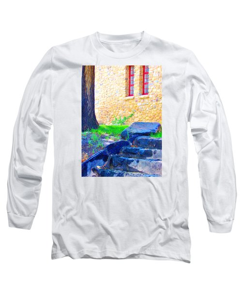 Long Sleeve T-Shirt featuring the photograph Stone Steps by Marilyn Diaz