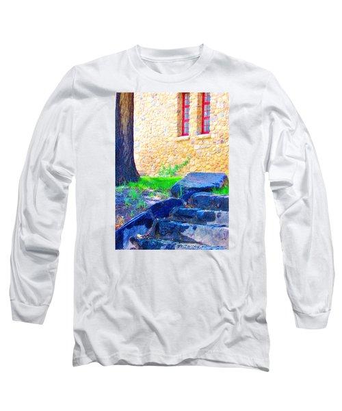 Stone Steps Long Sleeve T-Shirt by Marilyn Diaz