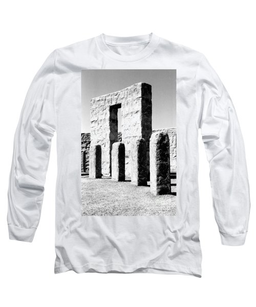 Long Sleeve T-Shirt featuring the photograph Stonehenge Replica by Chalet Roome-Rigdon