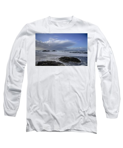 Storm Rolling In Wickaninnish Beach Long Sleeve T-Shirt by Roxy Hurtubise