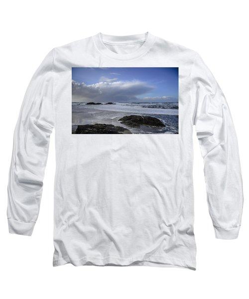 Storm Rolling In Wickaninnish Beach Long Sleeve T-Shirt