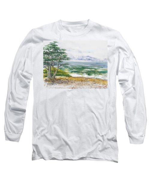 Stormy Morning At Carmel By The Sea California Long Sleeve T-Shirt