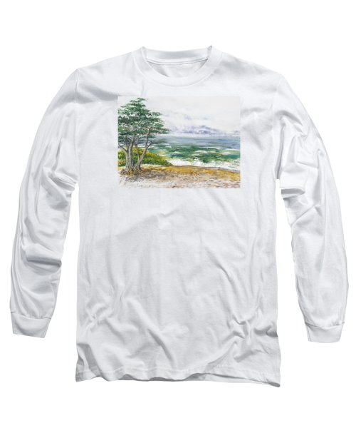 Stormy Morning At Carmel By The Sea California Long Sleeve T-Shirt
