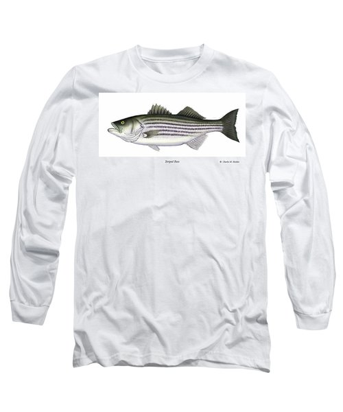 Striped Bass Long Sleeve T-Shirt by Charles Harden