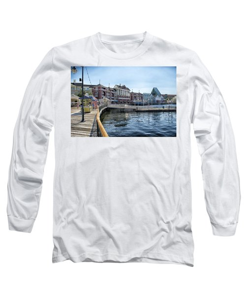 Strolling On The Boardwalk At Disney World Long Sleeve T-Shirt by Thomas Woolworth