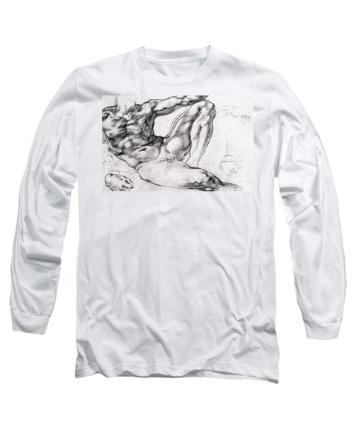 Study For The Creation Of Adam Long Sleeve T-Shirt