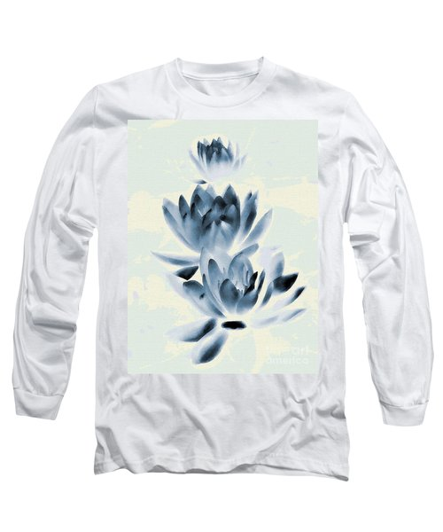 Study In Blue Long Sleeve T-Shirt by Andrea Kollo