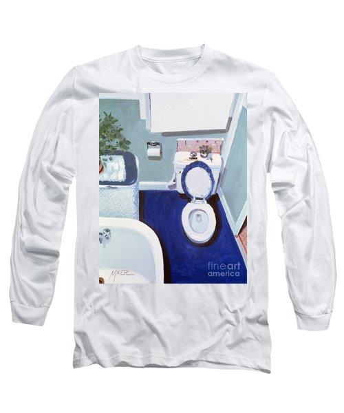 Study In White Porcelain Long Sleeve T-Shirt