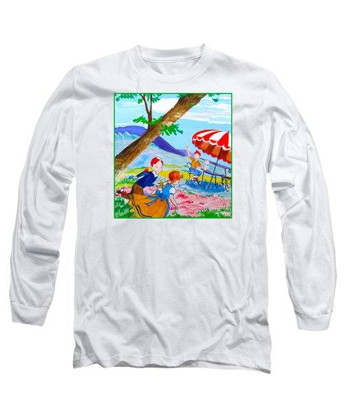 Long Sleeve T-Shirt featuring the painting Sugarland Vintage by Beth Saffer