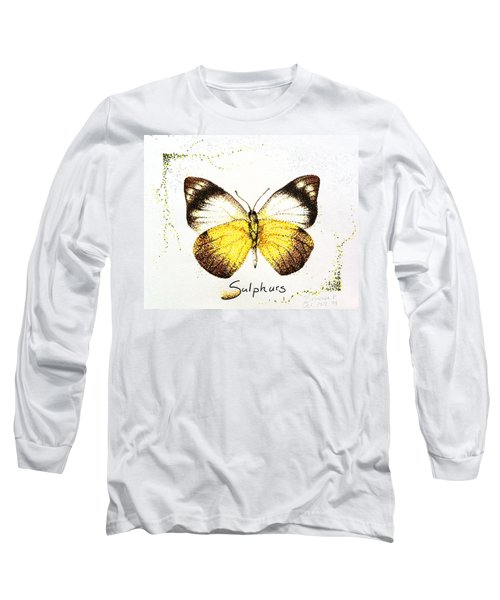 Sulphurs - Butterfly Long Sleeve T-Shirt by Katharina Filus