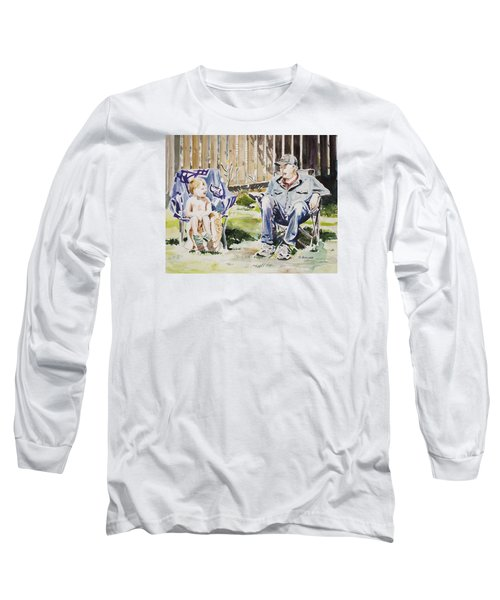 Grandfather  And Grandson Summer Bonding Long Sleeve T-Shirt